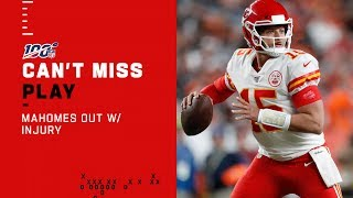 Mahomes Hurt After QB Sneak