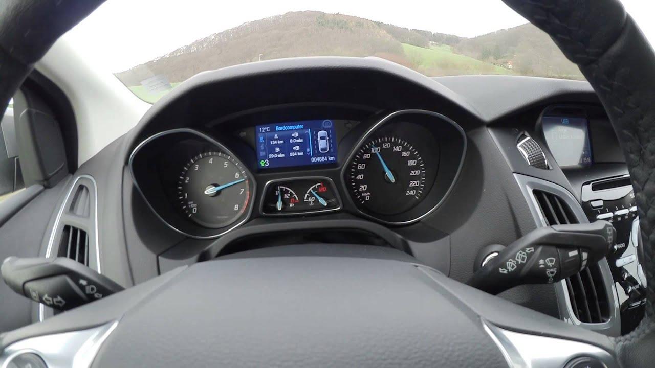 ford focus 1 0 litre ecoboost 125 hp acceleration 0 100 km h youtube. Black Bedroom Furniture Sets. Home Design Ideas