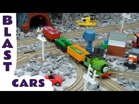 Trackmaster Blue Mountain Thomas The Train QUARRY BLAST Trucks Kids Toy Train Set Thomas The Tank