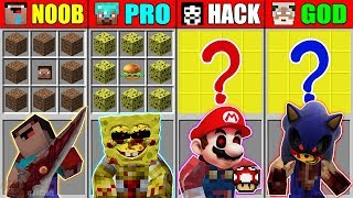 Minecraft NOOB vs PRO vs HACKER vs GOD SONIC EXE CRAFTING MUTANT MONSTER CHALLENGE Animation