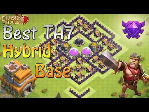 Clash Of Clans - TH7 FARMING BASE   BEST TOWN HALL 7 HYBRID BASE DEFENSE WITH REPLAYS
