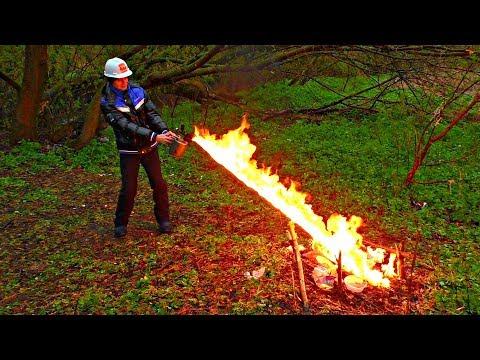 ✅На что способен ОГНЕМЁТ из паяльной ЛАМПЫ 💥🔥Прокачал бензиновую горелку и получил ПИСТОЛЕТ ОГНЕМЁТ