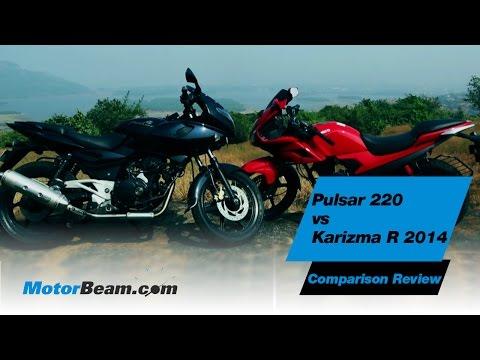 Pulsar 220 Vs Karizma R 2014 - Comparison Review | Motorbeam video