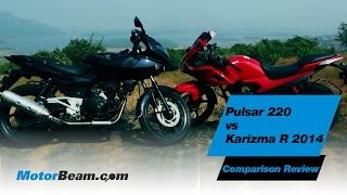 Pulsar 220 vs Karizma R 2014 - Comparison Review | MotorBeam