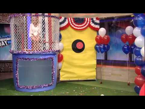 Kevin Jonas co-hosting Live! with Kelly. Part 8. Dunk Tank.