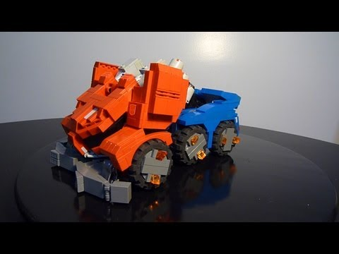 Optimus Prime Fall of Cybertron . A Lego Transformers creation by BOYZWITHTHEMOSTTOYZ