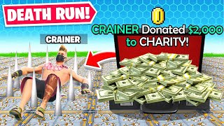 DONATING To CHARITY DEATHRUN (Fortnite)