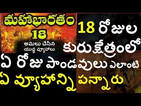 కురుక్షేత్ర యుద్ధంలో అమలు చేసిన యుద్ధ వ్యూహాలుBattle Strategies In Kurukshetra War/telugu info media