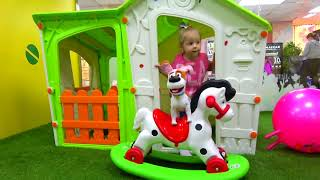 Funny Stacy With Toy Max Playing At The  - Fun with children  - Educational Video for Kids Children