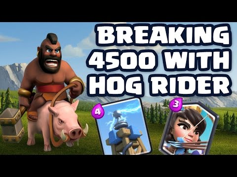 Awesome Hog Rider deck in Clash Royale! Tesla is ALIVE! (Clash Royale) thumbnail