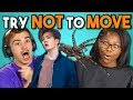 COLLEGE KIDS REACT TO TRY NOT TO MOVE CHALLENGE #2 -