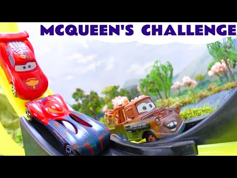 Cars Neon Racers Play Doh Frozen Olaf Peppa Pig Lightning Mcqueen Races Spider-man Cars 2 Story video