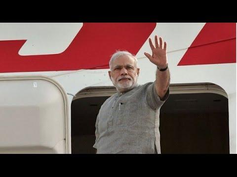 PM Narendra Modi's arrival in Mauritius