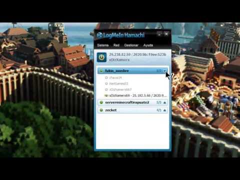 Como jugar Minecraft online con Hamachi CLIENTE SERVIDOR
