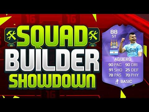 FIFA 16 SQUAD BUILDER SHOWDOWN!!! PURPLE SERGIO AGUERO!!! 5 Goal Hero Aguero Squad Builder Duel