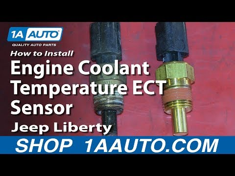 How To Install Replace Engine Coolant Temperature ECT Sensor 2002-06 Jeep Liberty