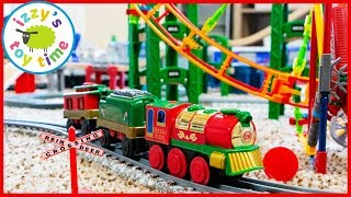 LIONEL HOLIDAY FLYER! We're making the BIGGEST Christmas Toy Train Track EVER!