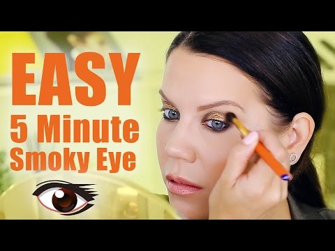 EASY FIVE MINUTE SMOKEY EYE   Makeup Tutorial
