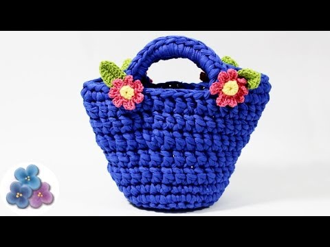 Como hacer bolsos de trapillo paso a paso crochet xxl - Como hacer bolsos tejidos ...