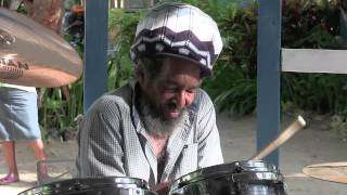 Studio One's Joe Isaacs: 'a drum solo', The Boat Bar, Negril, Jamaica 2014