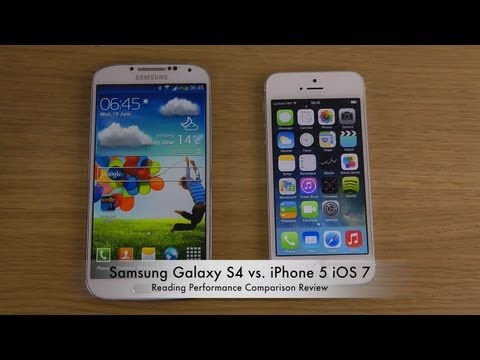 Samsung Galaxy S4 vs. iPhone 5 iOS 7 - Reading Performance Comparison Review
