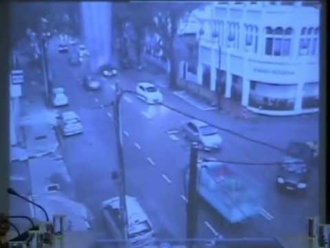 RIP Driver Killed by Building Lightning rod collapse HD video