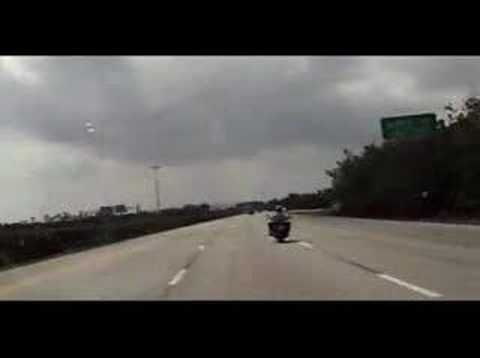 US1 Federal Hwy in Ft. Laud - Honda Shadow & sport bike Video