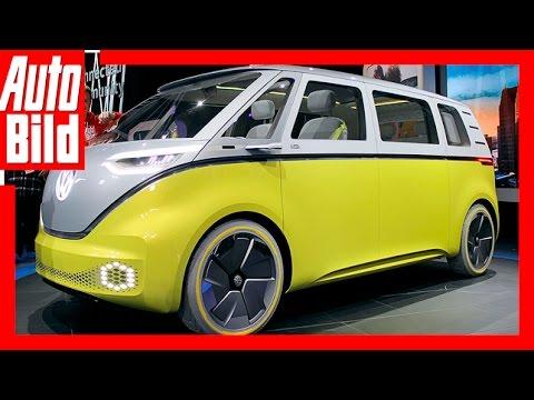 VW I.D. Buzz (Detroit 2017) Details/Review