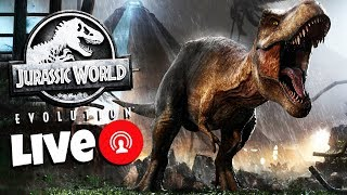 Jurassic World Evolution Livestream from E3! Building Jurassic World and Creating Dinosaurs!