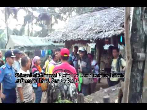 Released of Kidnapped Victim Mrs Benita Enriquez Latonio at Barangay Libug, Sumisip Basilan-