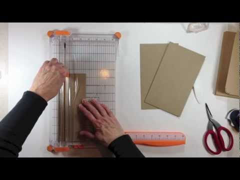 Vertical Paper Bag Mini Album Series Part 1b - Building the Cover