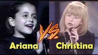 Ariana Grande VS Christina Aguilera Child /Teenage years VOCAL BATTLE!