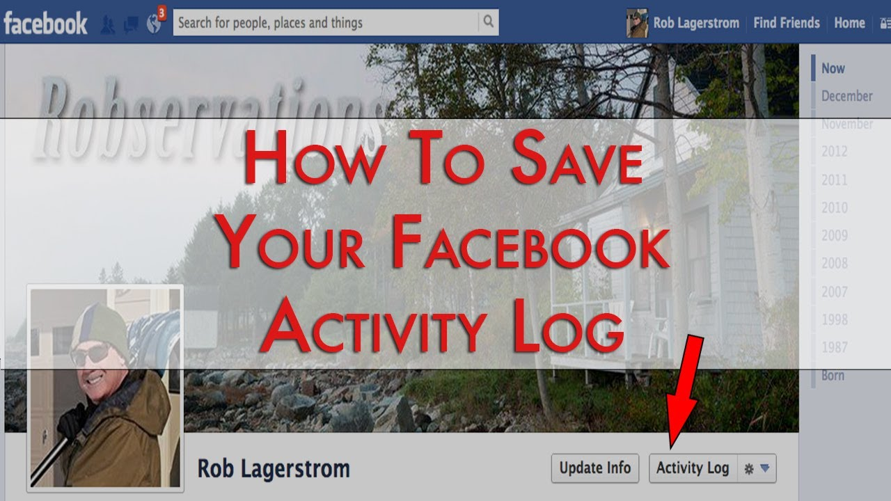 How To Save Your Facebook Activity Log - YouTube