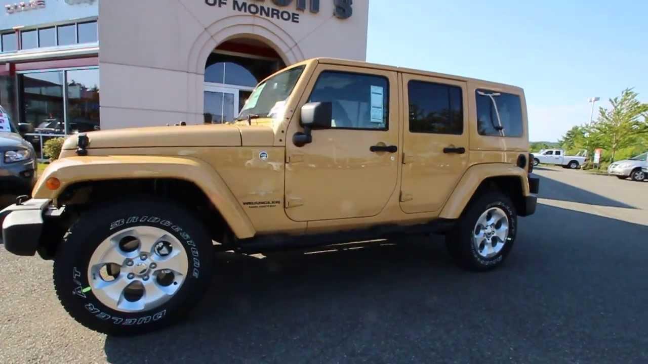 2013 Jeep Wrangler Unlimited Sahara Dune STK#DL683982 Rairdon's Dodge Chrysler Jeep of Monroe ...