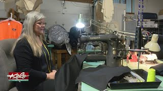 Woman Creating Custom Jackets For Keep KELOLAND Warm