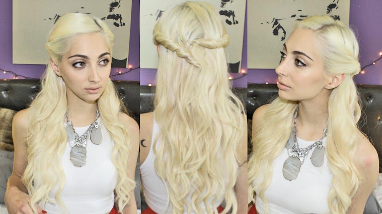 khaleesi inspired hair tutorial game of thrones youtube