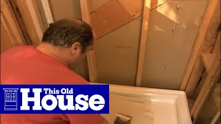 How to Replace a Shower Pan - This Old House