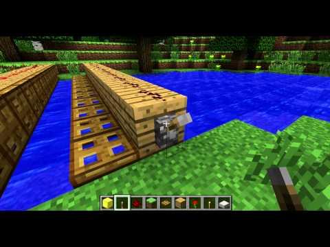 Как создать раздвижной мост в Minecraft'те