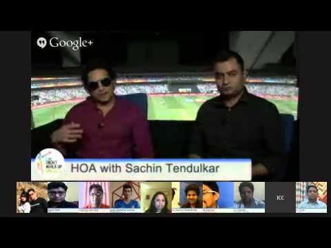 Sachin Tendulkar Hangout, ICC Cricket World Cup 2015