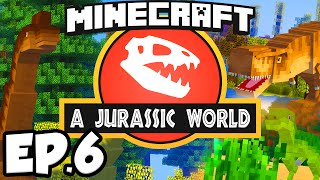 Jurassic World: Minecraft Modded Survival Ep.6 - SECRET LAB!!! (Rexxit Modpack)
