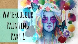 Watercolour Speed Painting: Festival Girl Part 1- The Under Painting