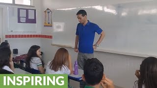 Students give teacher surprise gift after learning he was sleeping at the school