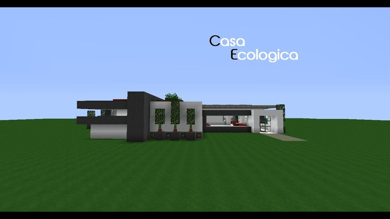 moderna casa ecol gica minecraft youtube