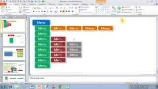 Tạo menu chuyên nghiệp trong powerpoint