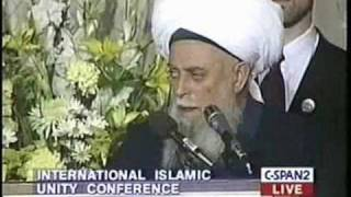 Sheikh Maulana Nazim Kibrisi speaking at the International Islamic Unity Conference - 2 of 2