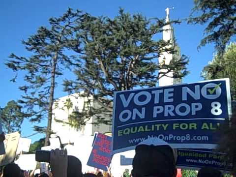 Gay Marriage Protest March on Mormon Church #2