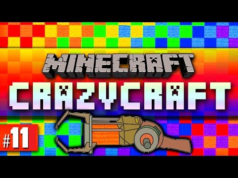 Minecraft Mods Crazy Craft #11 'GRAVITY GUN!' with Vikkstar & Woofless (Minecraft Crazy Craft 2.1)