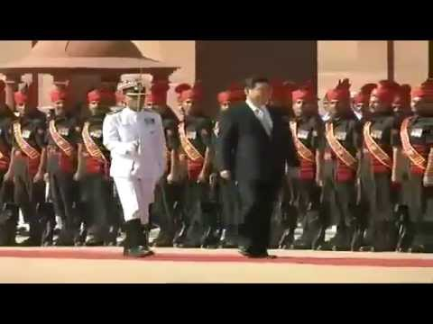 Chinese President Xi Jinping accorded a Ceremonial Reception at Rashtrapati Bhawan