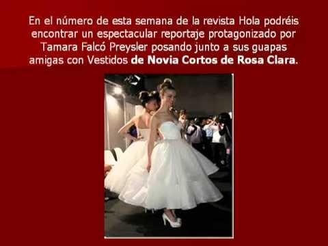 Vestidos de Novia Cortos de Rosa Clara : vestidos de novia económicos