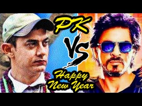 Aamir Khan's PK Official TRAILER V/S Shahrukh Khan's Happy New Year TRAILER CLASH